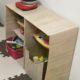 段ボールでままごと用食器棚を手作り(2ヶ月使用中)。