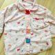 【ボタン練習】ボタンが大きいパジャマを、西松屋で購入。
