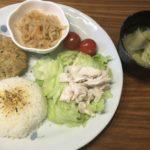 平日の簡単献立2日分(豆腐ハンバーグ&生姜焼き)